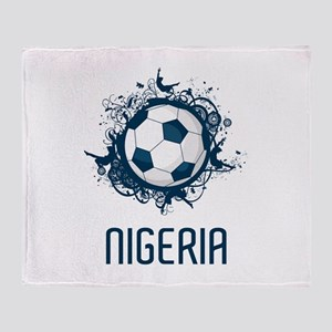 Nigeria Football Throw Blanket