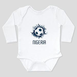 Nigeria Football Long Sleeve Infant Bodysuit