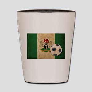 Vintage Nigeria Football Shot Glass