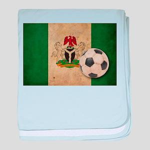 Vintage Nigeria Football baby blanket