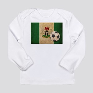 Vintage Nigeria Football Long Sleeve Infant T-Shir