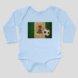 Vintage Nigeria Football Long Sleeve Infant Bodysu