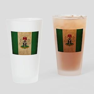 Vintage Nigeria Flag Pint Glass