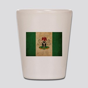 Vintage Nigeria Flag Shot Glass