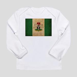 Vintage Nigeria Flag Long Sleeve Infant T-Shirt
