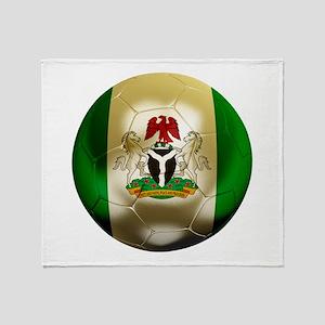 Nigeria Football Throw Blanket