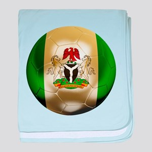 Nigeria Football baby blanket