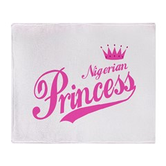 Nigerian Princess Throw Blanket