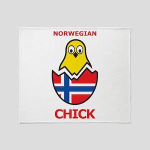 Norwegian Chick Throw Blanket