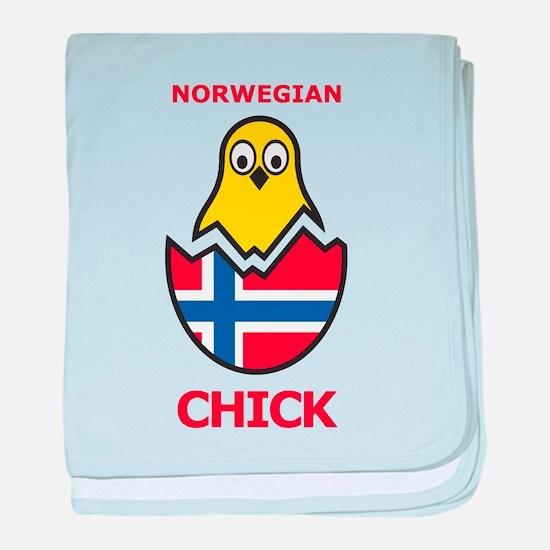 Norwegian Chick baby blanket