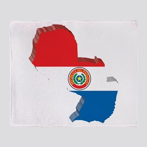 3D Paraguay Map Throw Blanket