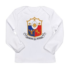 Philippines Coat Of Arms Long Sleeve Infant T-Shir