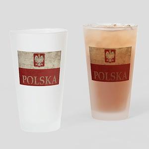 Vintage Polska Pint Glass