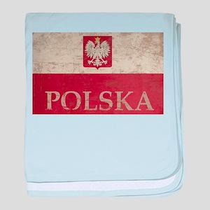 Vintage Polska baby blanket