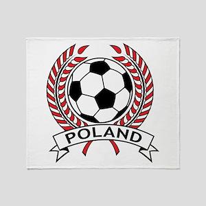 Poland Soccer Throw Blanket