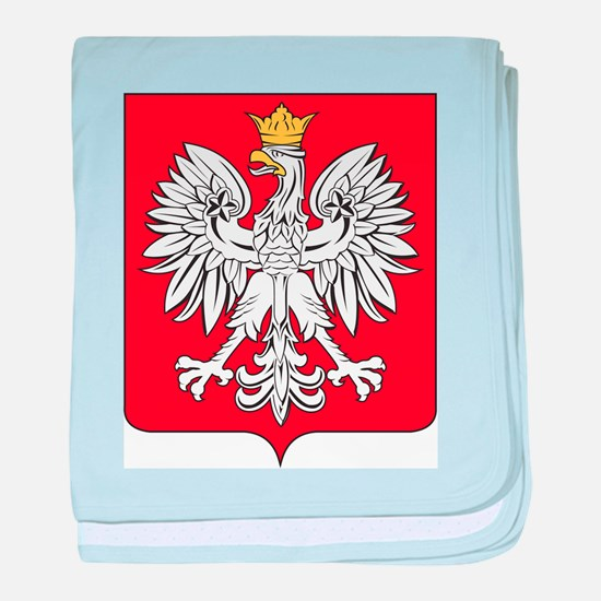 Poland Coat Of Arms baby blanket