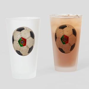 Portugal Football Pint Glass