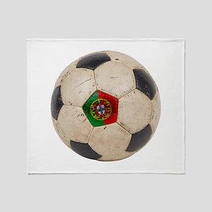 Portugal Football Throw Blanket