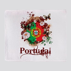 Butterfly Portugal Throw Blanket