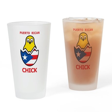 Puerto Rican Chick Pint Glass