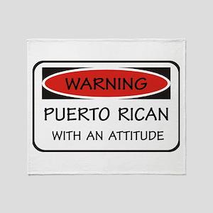 Attitude Puerto Rican Throw Blanket