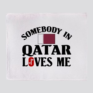 Somebody In Qatar Throw Blanket