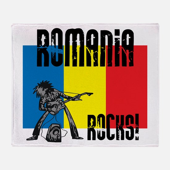 Romania Rocks Throw Blanket