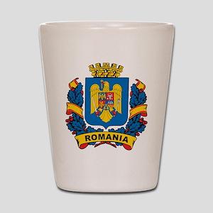 Stylish Romania Crest Shot Glass