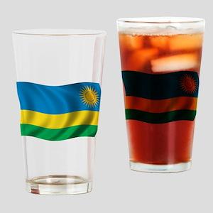 Wavy Rwanda Flag Pint Glass