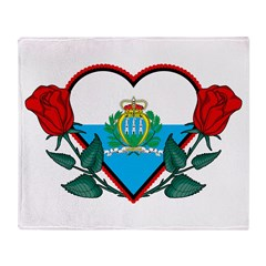 Heart San Marino Throw Blanket