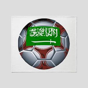 Football Saudi Arabia Throw Blanket