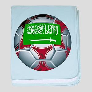 Football Saudi Arabia baby blanket