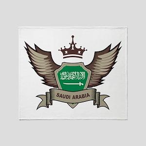 Saudi Arabia Emblem Throw Blanket