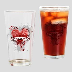 Heart Saudi Arabia Pint Glass