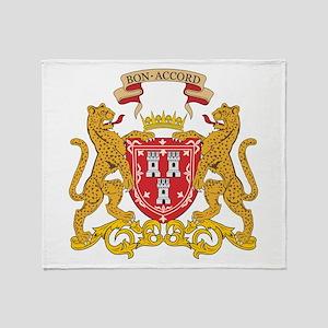 Aberdeen Coat of Arms Throw Blanket