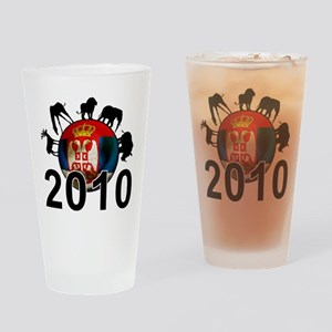 Serbia World Cup 2010 Pint Glass