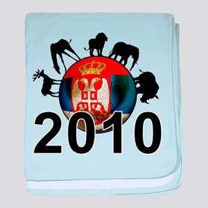 Serbia World Cup 2010 baby blanket