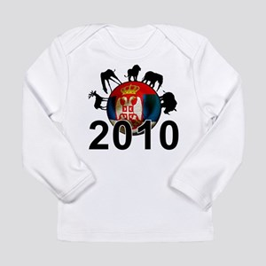 Serbia World Cup 2010 Long Sleeve Infant T-Shirt