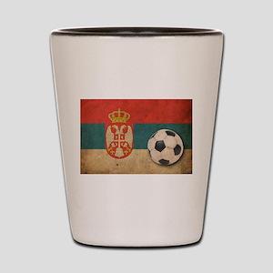 Vintage Serbia Football Shot Glass