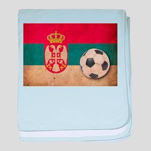 Vintage Serbia Football baby blanket