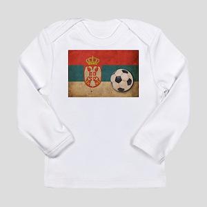 Vintage Serbia Football Long Sleeve Infant T-Shirt