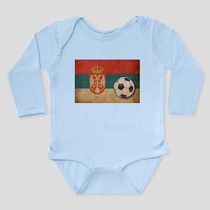 Vintage Serbia Football Long Sleeve Infant Bodysui