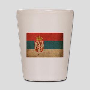Vintage Serbia Flag Shot Glass
