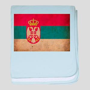 Vintage Serbia Flag baby blanket