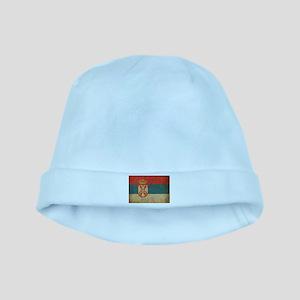 Vintage Serbia Flag baby hat