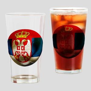 Serbia Football Pint Glass