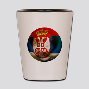 Serbia Football Shot Glass