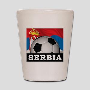 Football Serbia Shot Glass