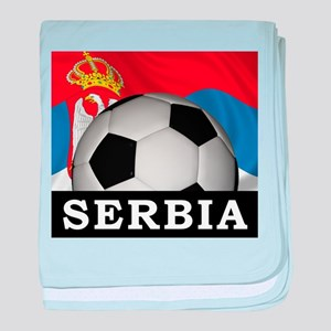 Football Serbia baby blanket