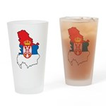 Map Of Serbia Pint Glass